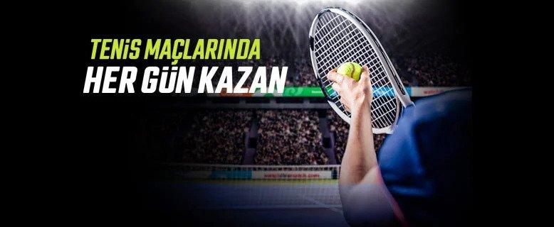Tenis Maçlarıyla Her Gün 25 TL Bedava Bahis